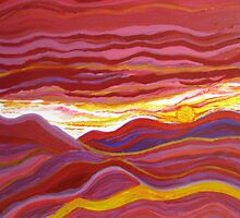 Firery Sunset-Available As Art Prints-Mugs,Cases,Duvets,T Shirts,Stickers,etc by Robert Burns