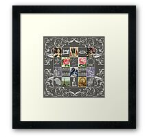 Les Timbres 1 Framed Print
