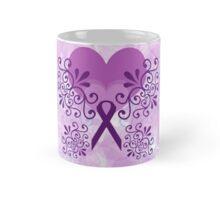 Purple Ribbon, Butterfly 3 Mug