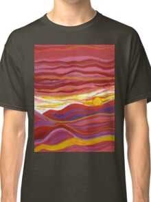 Firery Sunset-Available As Art Prints-Mugs,Cases,Duvets,T Shirts,Stickers,etc Classic T-Shirt