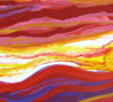 Firery Sunset-Available As Art Prints-Mugs,Cases,Duvets,T Shirts,Stickers,etc Sticker