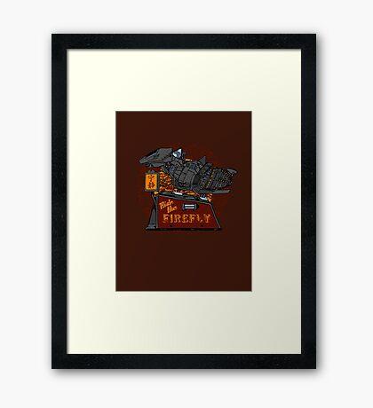Ride the Firefly Framed Print