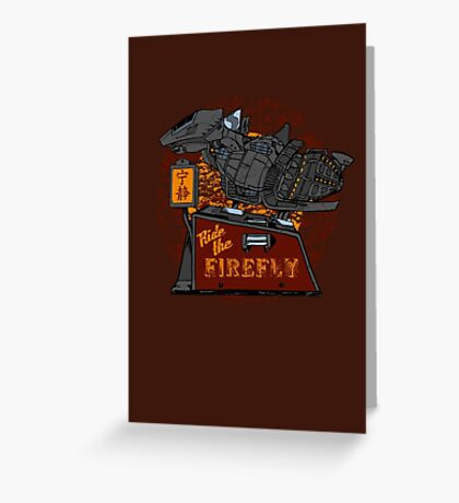 Ride the Firefly Greeting Card