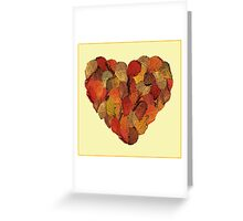 Heart of golden leaves Greeting Card