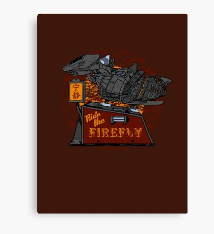 Ride the Firefly w/ Brown Background Canvas Print