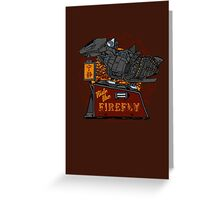 Ride the Firefly w/ Brown Background Greeting Card
