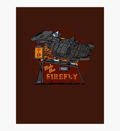Ride the Firefly w/ Brown Background Photographic Print