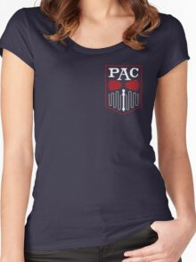 PAC Logo - Red and White (Small) Women's Fitted Scoop T-Shirt