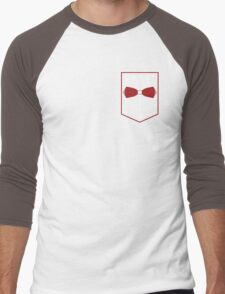 PAC Logo - Red and White (Small) Men's Baseball ¾ T-Shirt