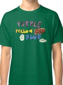 Purple Yellow Red & Blue Classic T-Shirt