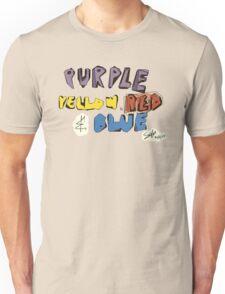 Purple Yellow Red & Blue Unisex T-Shirt