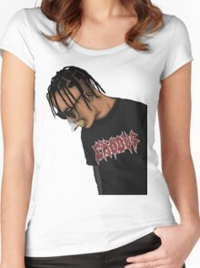 TRAVIS SCOTT Women's Fitted Scoop T-Shirt
