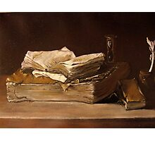 still life with books Photographic Print