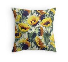 Sunflowers Forever Throw Pillow