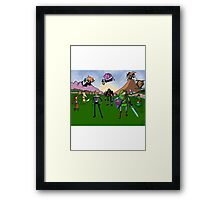 Ocarina of Adventure Time Framed Print