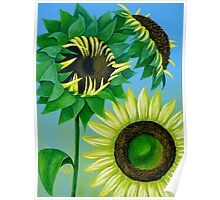 """Three Sunflowers"" original nature floral painting Poster"