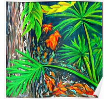"""Philodendrons"" original signed nature painting on canvas Poster"