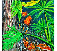 """""""Philodendrons"""" original signed nature painting on canvas Photographic Print"""
