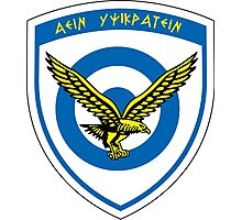 Hellenic Air Force Seal  Photographic Print