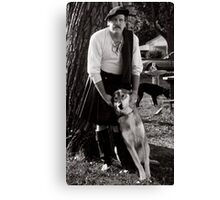 Harold and Shylowe the Wolf Canvas Print