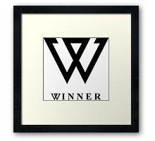 Winner logo Framed Print