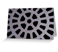 Round Grate Greeting Card
