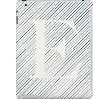 Striped E iPad Case/Skin