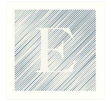 Striped E Art Print