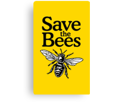 Save The Bees Beekeeper Quote Design Canvas Print