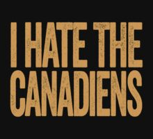 I Hate The Canadiens - Boston Bruins T-Shirt - Show Your Team Spirit - Gold Text Design - Haters Gonna Hate by BeefShirts