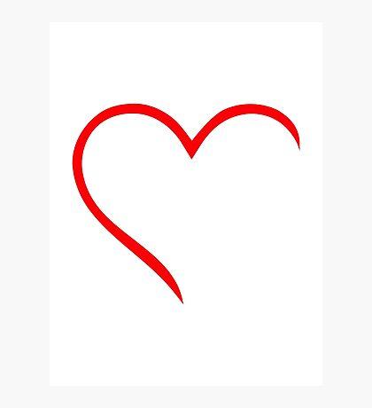 Half red heart Photographic Print