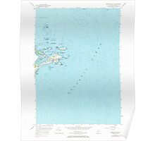 Maine USGS Historical Map Biddeford Pool 104918 1956 24000 Poster