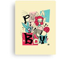 Bunny and Playboy! Canvas Print