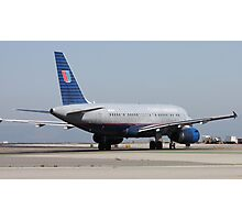 N839 United Airlines Plane Photographic Print