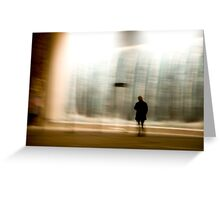 untitled observation (poetry in motion) Greeting Card