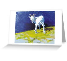 Strike A Pose - Amusing Acrylic Goat Painting Greeting Card