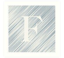 Striped F Art Print