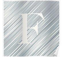 Striped F Poster