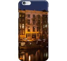 Night Lights on the Amsterdam Canals iPhone Case/Skin