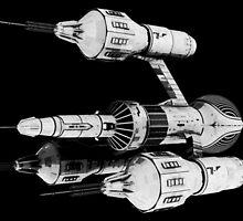 Blake's 7 - Liberator DSV2 B&W by Ulysses3D