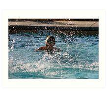 Pool Action Art Print