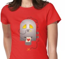 sparking robot love heart printout Valentine's Day Womens Fitted T-Shirt