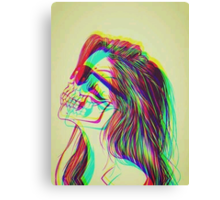 Inner Beauty (Skull Girl) Canvas Print