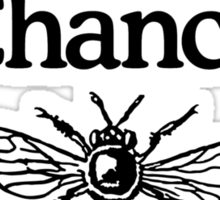 Give Bees A Chance Beekeeper Quote Design Sticker
