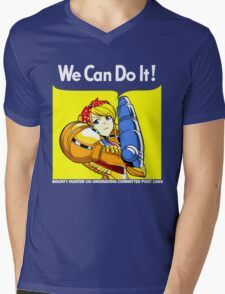 We can do it! Mens V-Neck T-Shirt