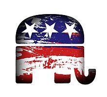 Republican Elephant Photographic Print