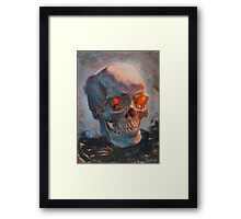 Skull Oil Painting Framed Print
