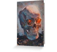 Skull Oil Painting Greeting Card