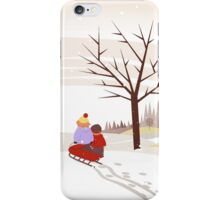 Sledding Adventure iPhone Case/Skin