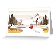 Sledding Adventure Greeting Card